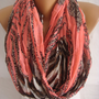 Leopard Scarf Spring Scarf Summer Scarf Trend Scarf Crinkle Scarf Pareo-ESCHERPE