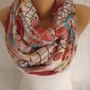 Multicolor Buck Print Spring Scarf Summer Scarf Pareo Shawl Scarf-ESCHERPE