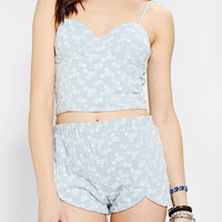 DV By Dolce Vita Ambra Daisy Denim Bustier Top