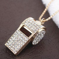 rhinestone whistle necklace