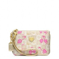 Coach :: Waverly Cherry Small Wristlet