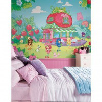 Room Mates XL Murals Strawberry Shortcake Wall Decal - JL1203M - All Wall Art - Wall Art &amp; Coverings - Decor