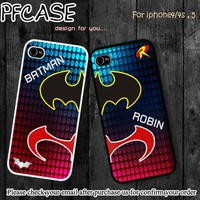Batman and Robin Twin cases : Case For Iphone 4/4s ,5 / Samsung S2,3,4