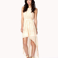 Lepoard &amp; Rose Print High-Low Dress | FOREVER 21 - 2041280110