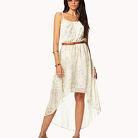 Abstract Safari High-Low Dress
