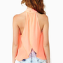 Wild Abandon Top - Coral