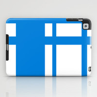 Blue stripes I iPad Case by Cindys