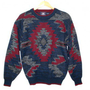 Vintage 90s Aztec Tribal Tacky Acrylic Ugly Sweater Men's Size Large (L) $25 - The Ugly Sweater Shop