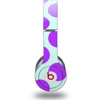 Kearas Polka Dots Purple And Blue Decal Style Skin (fits Beats Solo HD Headphones - HEADPHONES NOT INCLUDED):Amazon:Everything Else