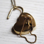 Retro heart lock necklace
