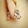 golden elephant earrings