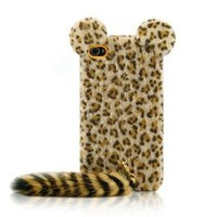 Cute 3D Plush Tail Leopard TPU Case...