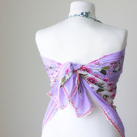 Lilac Beach cover up, Women Scarf - Turkish Scarf,  Cotton, Headband, Belt, all in 1