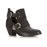 Avril Leather Cut Out Boot - View All  - Shoes