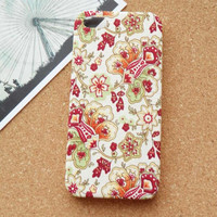 Retro Vines And Flowers  Fabric Phone Case
