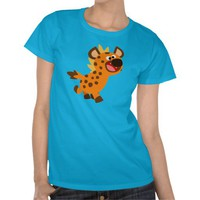 Cute Little Cartoon Hyena Women T-Shirt by Cheerful Madness!! at Zazzle