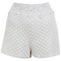 Lace Embellished Waist Short - Shorts  - Clothing
