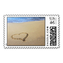 Heart in Sand Postage Stamps from Zazzle.com