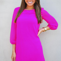 RESTOCK I Love You So Dress: Fuchsia | Hope&#x27;s