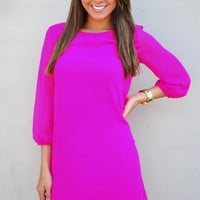 RESTOCK I Love You So Dress: Fuchsia | Hope's