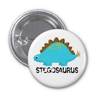 Blue Stegosaurus Button from Zazzle.com
