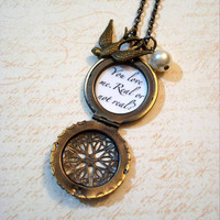 Hunger Games Brass Mockingjay Filigree Locket by jessicajanek