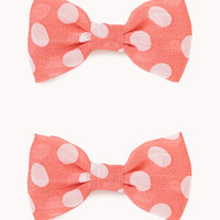 Polka Dot Bow Hair Clips | FOREVER 21 - 1057459504
