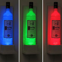 Ketel One Wall Mount Sconce Color Changing Remote LED Bottle Lamp Bar Light