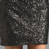 MM Couture by Miss Me Allover Sequin Mini Skirt in Black from REVOLVEclothing.com