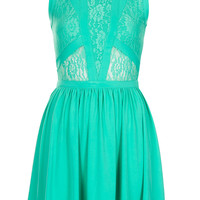 Petite Lace Panel Skater Dress - Petite - Clothing - Topshop USA