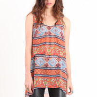 Color Burst Printed Tank - $34.00 : ThreadSence.com, Your Spot For Indie Clothing  Indie Urban Culture