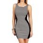 BlackWhite Stripe Tank Dress