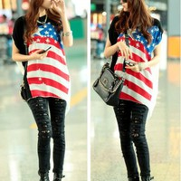 USA OVERSIZE BLOUSE