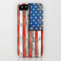 USA Vintage Wood iPhone & iPod Case by Maximilian San
