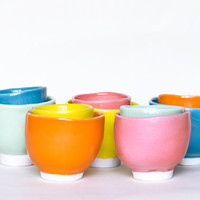 Handmade High Quality Porcelain Bowl - 5 delicious colors - Flintstone tableware
