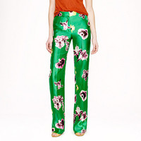 Collection silk-wool punk floral trouser - full-length trousers - Women's pants - J.Crew