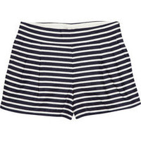 J.Crew|Striped linen and cotton-blend shorts|NET-A-PORTER.COM
