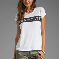 Lovers + Friends Feel My Vibe Short Sleeve Graphic Tee in White from REVOLVEclothing.com