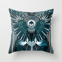 Space Invader Throw Pillow by eos vector