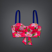 Floral Corset Swim Top