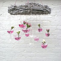 Bird And Blossom Hanging Decorations