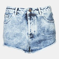 Topshop Moto 'Holly' Acid Wash Denim Shorts | Nordstrom