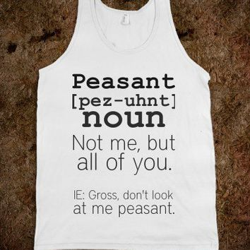 Definition of Peasant-Unisex White Tank