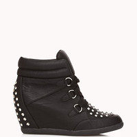 Spiked Wedge Sneakers