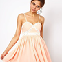 Ginger Fizz Diamonds Bandeau Prom Dress at asos.com