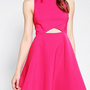 Sparkle &amp; Fade Sateen Cutout Skater Dress
