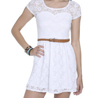 Sweetheart Crochet Skater Dress | Shop Just Arrived at Wet Seal