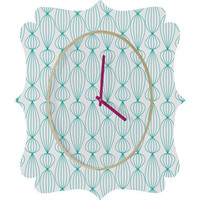 DENY Designs Home Accessories | Gabi Lanterns Aqua 1 Quatrefoil Clock
