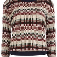 Multi check retro jumper