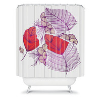 DENY Designs Home Accessories | Gabi Sea Leaves Shower Curtain